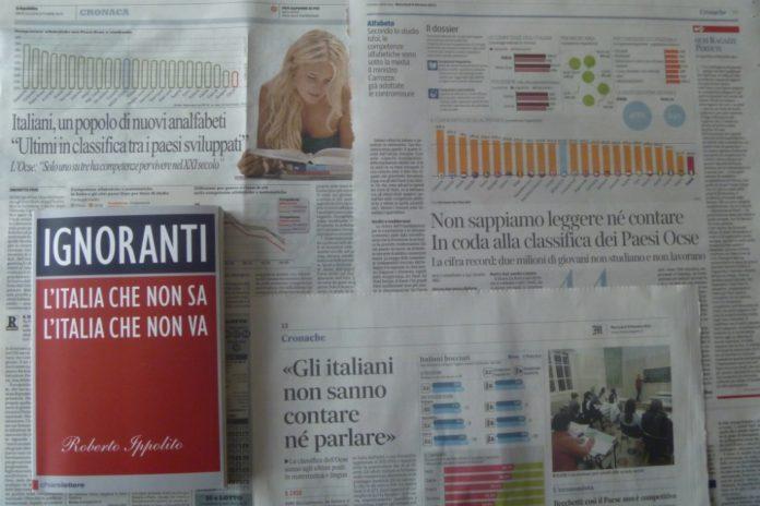 Roberto Ippolito Ignoranti Chiarelettere e i giornali con i dati Ocse