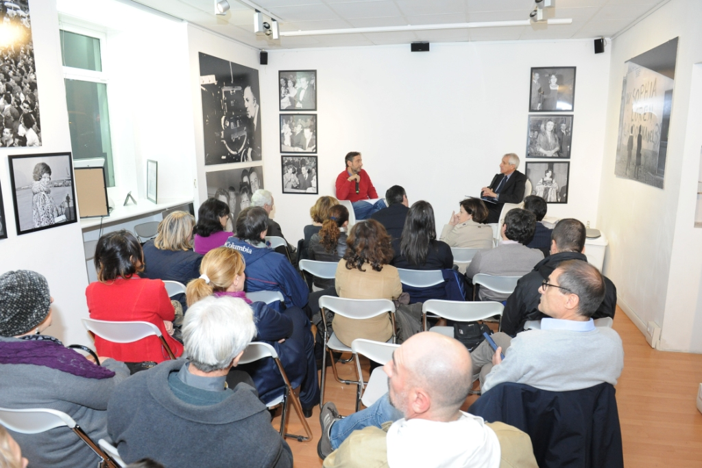 19 novembre 2013 3 Mario Tozzi e Roberto Ippolito a Spazio5 foto Agr