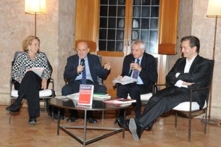 2 G.Melandri M.Sinibaldi Roberto Ippolito e E. de Chassey Villa Medici 5 novembre 2013 foto Maurizio Riccardi