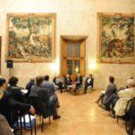 3 G.Melandri M.Sinibaldi Roberto Ippolito e E. de Chassey Villa Medici 5 novembre 2013 foto Maurizio Riccardi