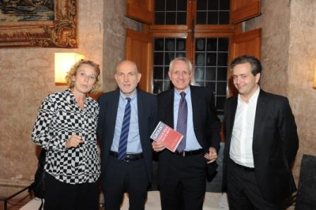 6 G.Melandri M.Sinibaldi Roberto Ippolito e E. de Chassey Villa Medici 5 novembre 2013 foto Maurizio Riccardi