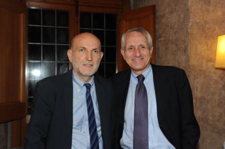 8 Marino Sinibaldi e Roberto Ippolito Villa Medici 5 novembre 2013 foto Maurizio Riccardi