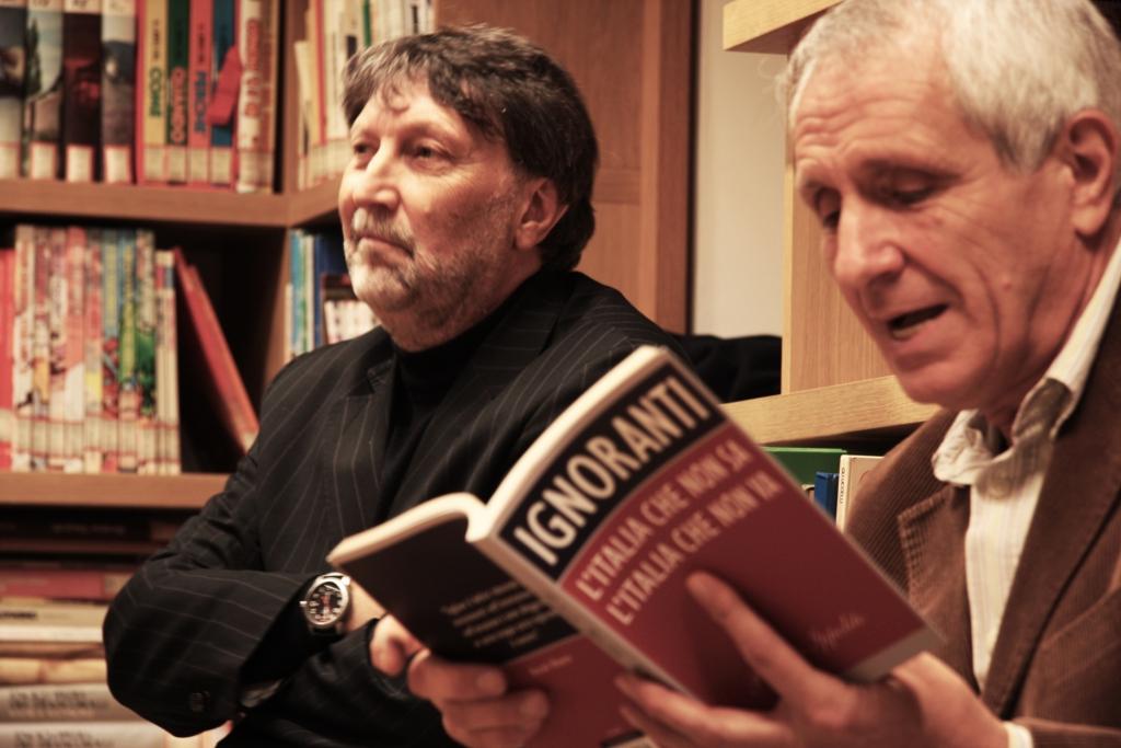 Domenico Guidi sindaco di Bassiano e Roberto Ippolito Ignoranti 16 novembre 2013 foto Raffaela Scaglietta