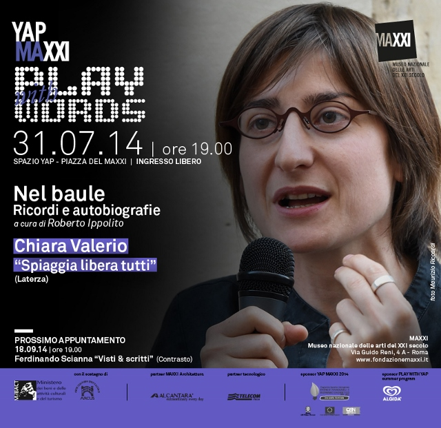 Maxxi invito Chiara Valerio Nel baule curato da Roberto Ippolito 31 luglio 2014