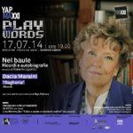 Maxxi invito Dacia Maraini Nel baule curato da Roberto Ippolito 17 luglio 2014