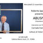Roberto Ippolito Abusivi Chiarelettere invito 12 novembre 2014 Galleria Roma