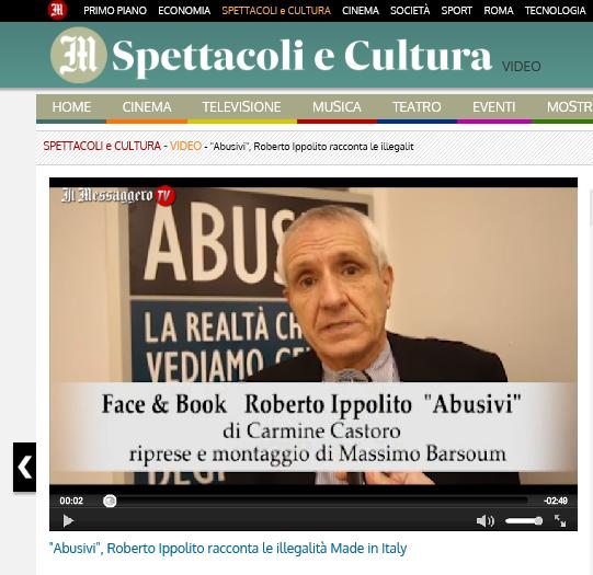 Roberto Ippolito Abusivi Chiarelettere su Il Messagero.tv 17 novembre 2014
