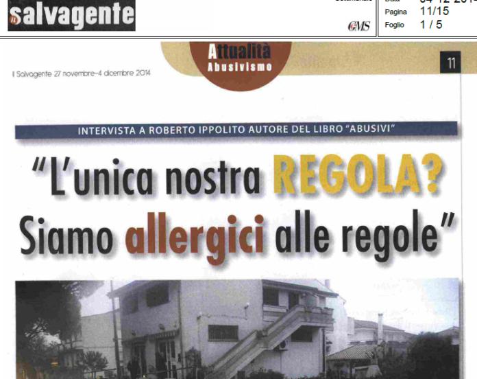 Roberto Ippolito Abusivi Chiarelettere Il salvagente 2 dicembre 2014