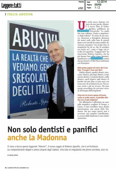 Roberto Ippolito Abusivi Chiarelettere Leggeretutti dicembre 2014
