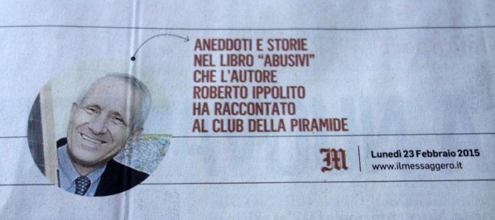 Roberto Ippolito Abusivi Chiarelettere Il Messaggero 23 febbraio 2015