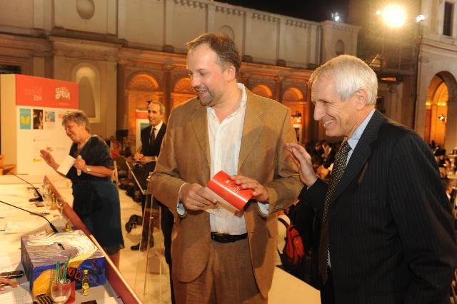 Stefano Petrocchi e Roberto Ippolito finale Premio Strega Ninfeo Villa Giulia foto Giovanni Currado Agr