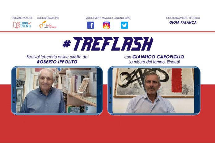 Roberto Ippolito direttore #TreFlash festival letterario online video con Carofiglio 19 maggio 2020