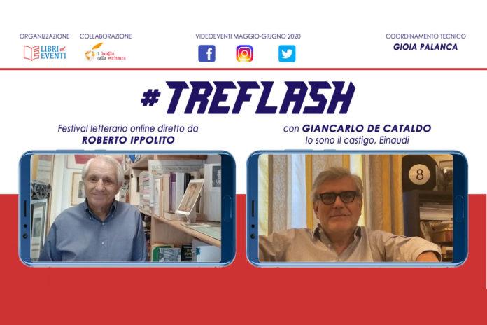 Roberto Ippolito direttore #TreFlash festival letterario online –con Giancarlo De Cataldo (Einaudi) 8 giugno 2020