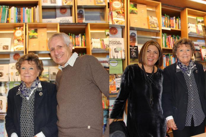 Dacia Maraini, Roberto Ippolito e Barbara Pieralice collage da foto 18 novembre 2017 libreria Nuova Europa I Granai, Roma