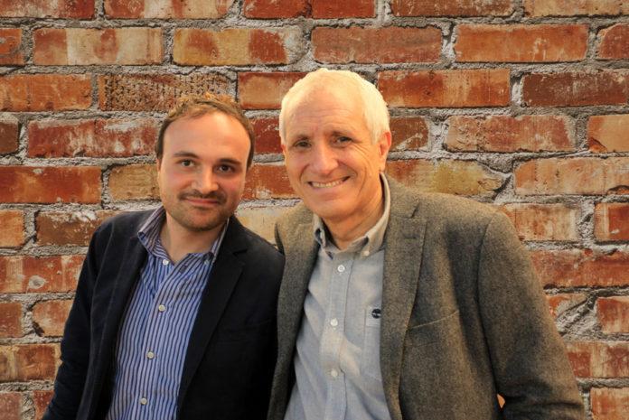 Paolo Di Paolo e Roberto Ippolito autore di 'Delitto Neruda' Chiarelettere (da una foto del 25 marzo 2017)