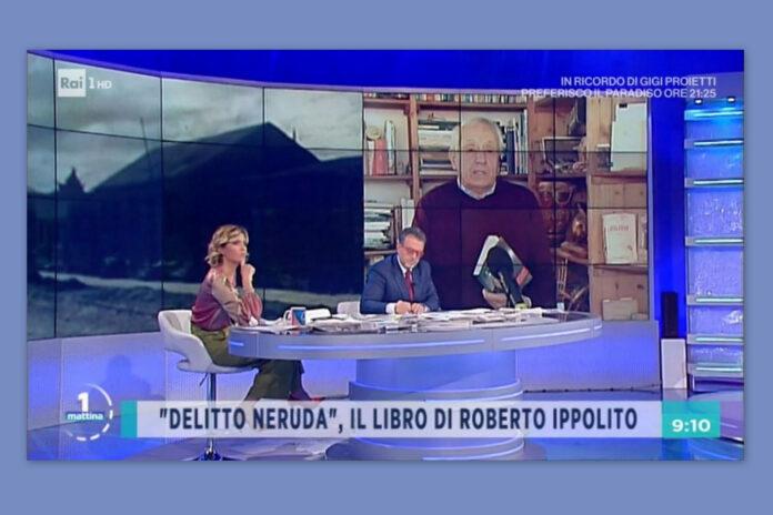 """Roberto Ippolito, autore del libro """"Delitto Neruda"""" (Chiarelettere), ospite di """"Unomattina"""" Rai1 condotto da Marco Frittella e Monica Giandotti 3 novembre 2020"""