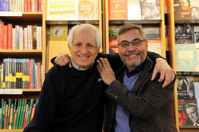 Roberto Ippolito (Chiarelettere) e Andrea Vianello (Mondadori) 29 febbraio 2020 libreria Nuova Europa I Granai