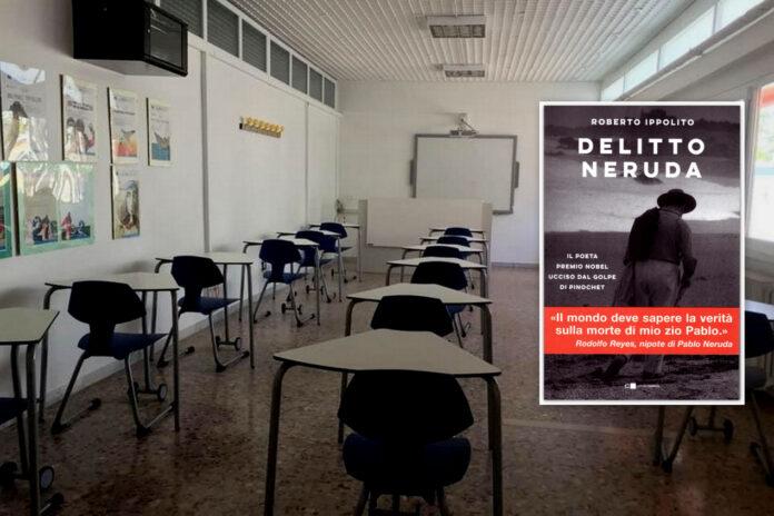 """Roberto Ippolito presenta """"Delitto Neruda"""" (Chiarelettere) martedì 20 aprile 2021 agli studenti dell'Istituto di Istruzione Superiore """"Mauro Perrone"""" di Castellaneta (Taranto)"""