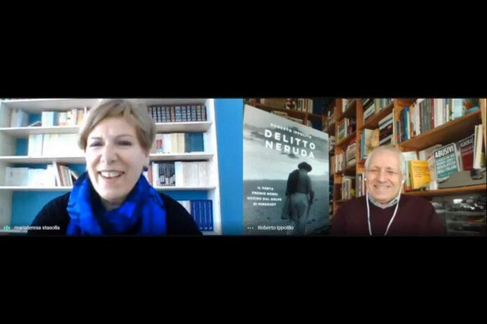 """Roberto Ippolito presenta """"Delitto Neruda"""" pubblicato da Chiarelettere martedì 20 aprile 2021 con gli studenti dell'Istituto di Istruzione Superiore """"Mauro Perrone"""" di Castellaneta (Taranto)"""