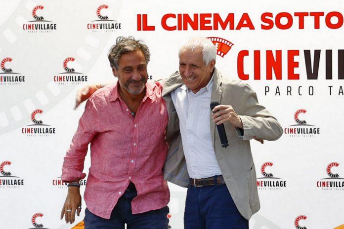 26 luglio 2021 LibriCineVillage Parco Talenti, Mario Tozzi e Roberto Ippolito foto Giacomo Gabrielli