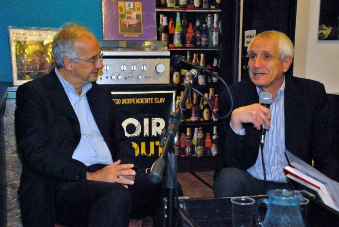 Walter Veltroni e Roberto Ippolito foto di archivio di Marcellino, Hop&Book Roma 21 ottobre 2015