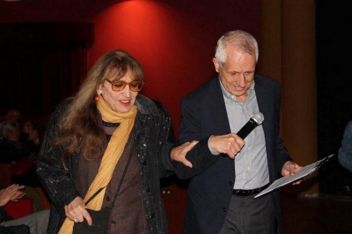 16 ottobre 2017 Piera Degli Esposti e Roberto Ippolito al Teatro Palladium, alla Garbatella a Roma, all'evento per Dacia Maraini