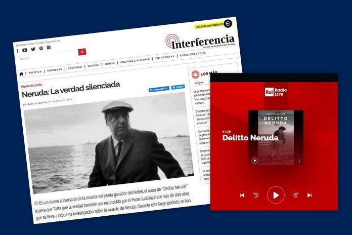 """Il libro """"Delitto Neruda"""" di Roberto Ippolito, pubblicato da Chiarelettere, su """"Interferencia"""" e a Rai Radio Live a """"Questioni di Stilo"""""""
